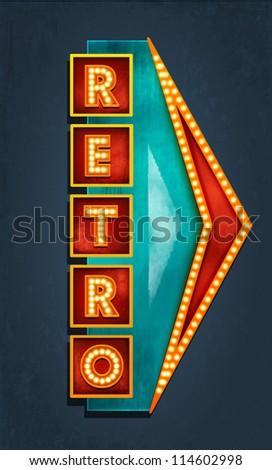 Retro motel sign. Vector - stock vector