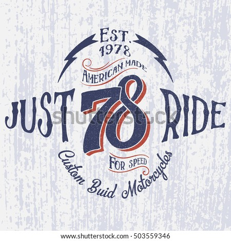retro motorcycle logo with