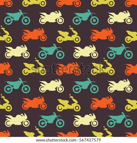 retro motorcycle seamless
