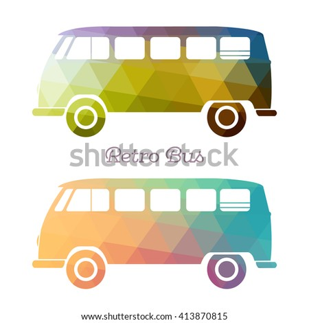 retro multicolor bus vintage