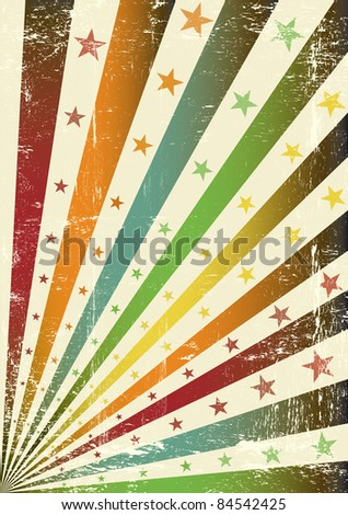 retro multicolor grunge flag. A retro grunge poster for you. - stock vector