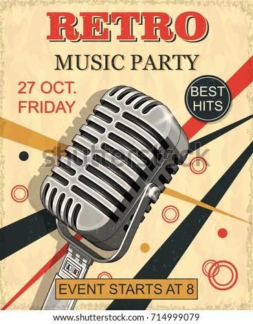 retro music party vintage...