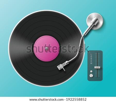 retro music turntable for vinyl