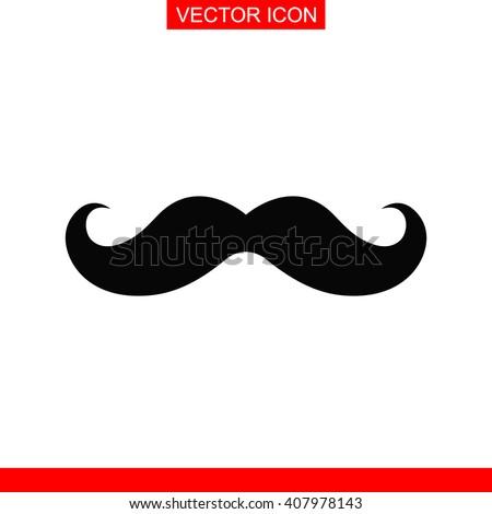 retro mustache icon