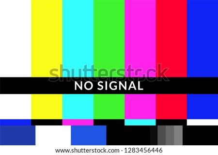Retro no signal tv test screen pattern chart #1283456446