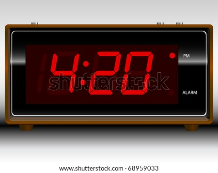 Retro Old School Alarm Clock Vector; Customize your own time
