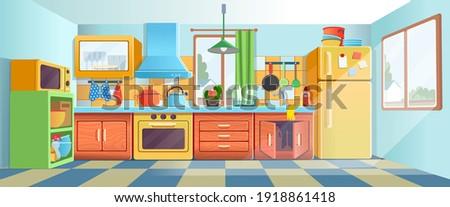 retro  ozy colored kitchen