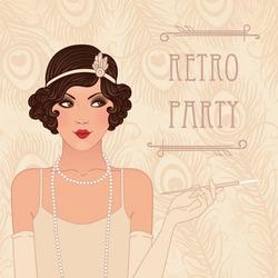 Retro party invitation design