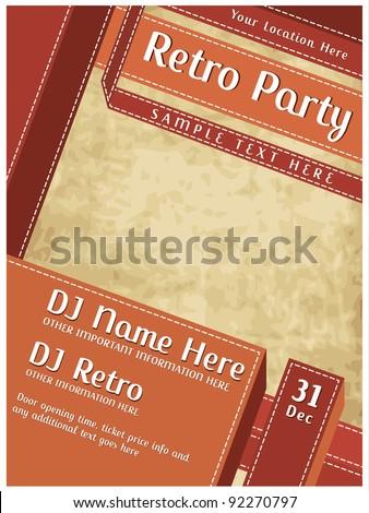 Retro Party Poster