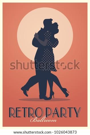 retro party poster silhouettes