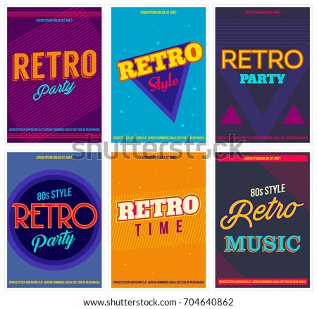retro music party event flyer invitation template download free