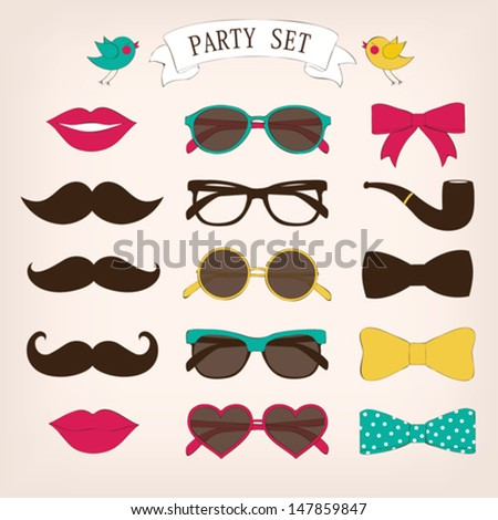 retro party set