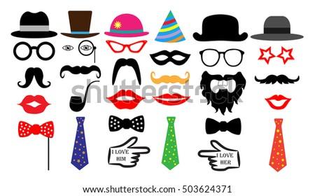 retro party set glasses  hats