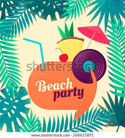 retro party vector illustration