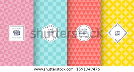 Retro pastel patterns. Set of seamless vector patterns retro style color. Cute fashion background design. Patterns for birthday celebrations, kids invitation, scrapbooking. Retro colors