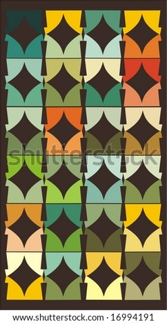 retro pattern background, vector - stock vector