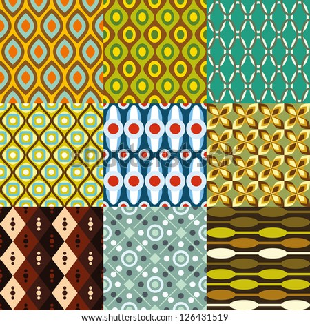 retro pattern collection