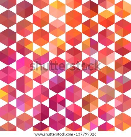 Orange triangle geometric pattern Vector  Free Download