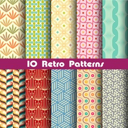 retro patterns collection  2 for making seamless wallpapers
