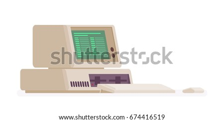 retro personal computer  old