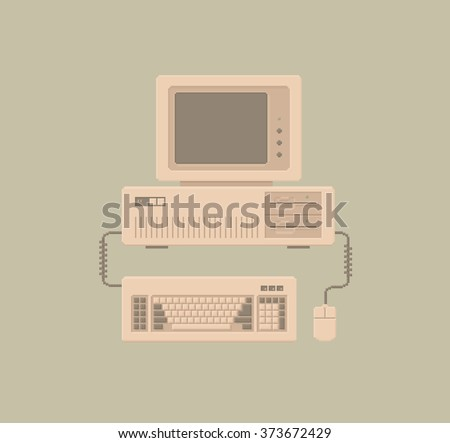 retro personal computer with