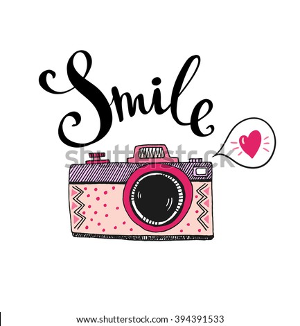 retro photo camera with stylish