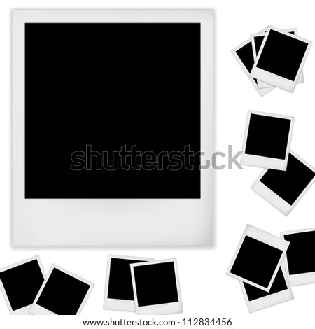 Retro photo frame isolated on white background. Vector illustration