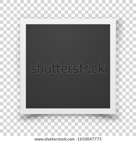 Retro photograph isolated on abstract checkered background. Foto stock ©