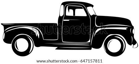 Retro pickup truck old car