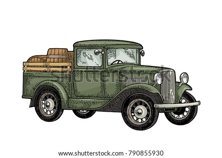 Free Hand Drawn Vintage Car Background Download Free Vector Art
