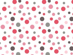 Retro Pink Red Grey Polka dot Background Pattern