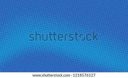 Retro pop art background blue dot haltone, vector illustation full hd
