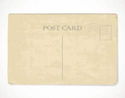 Retro  postcard with place for stamps - for design and scrapbook