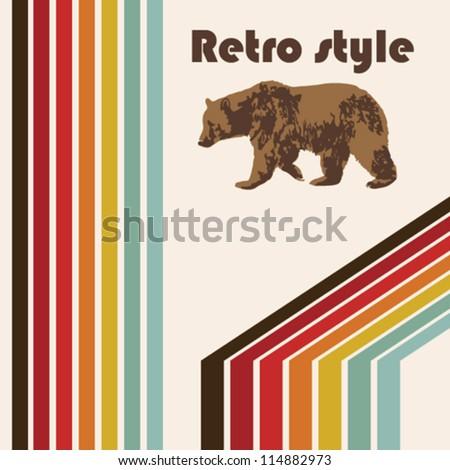 retro poster bear