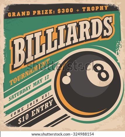 retro poster design for