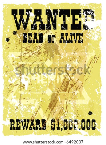 Retro poster in Wild West style. Vector format - stock vector