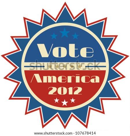 Retro presidential election 2012 badge