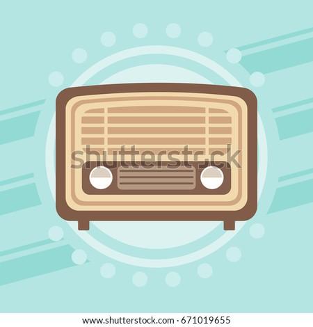 Retro radio design, vector illustration.