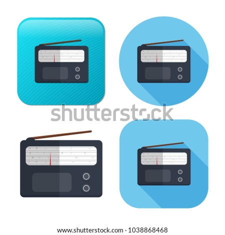 retro radio icon - media and music symbol