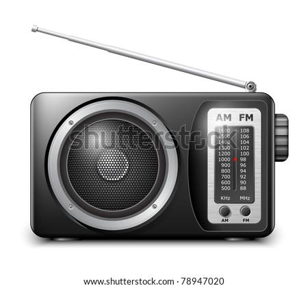 Retro radio, vector Stock photo ©