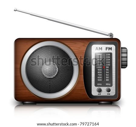 Retro radio, vector