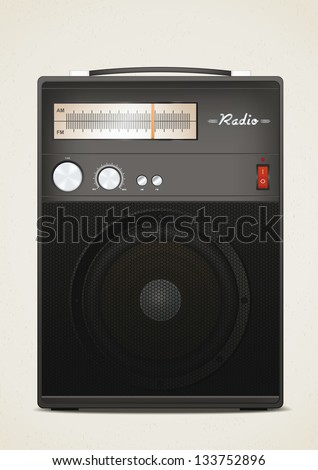 Retro radio. Vector illustration