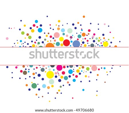 Retro rainbow circle pattern background, vector illustration