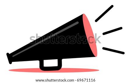 retro red and black megaphone