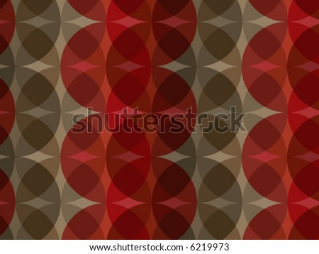 retro red brown circle pattern (vector)