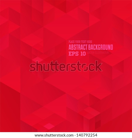 retro red geometric pattern for