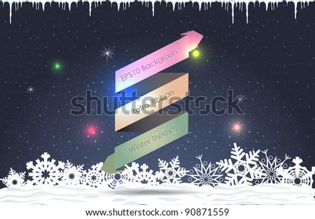 Retro Ribbon Vector Background