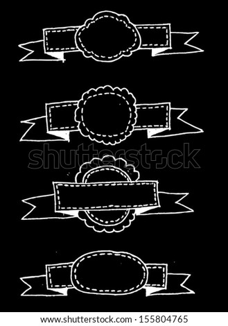 retro ribbons and labels Vector illustration