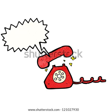 retro ringing telephone cartoon