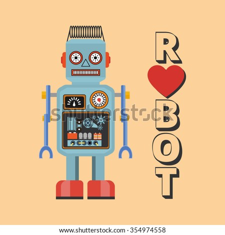 retro robot vintage robot